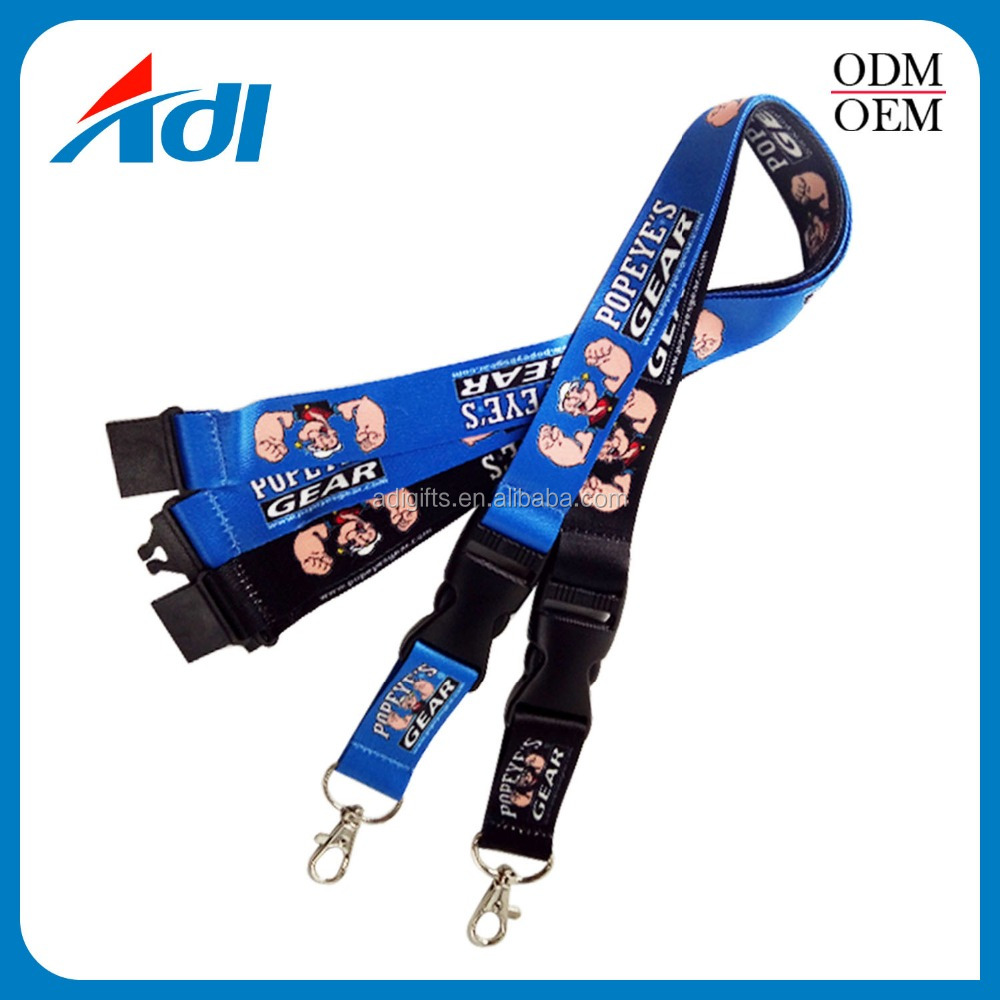 cheap personalized promotional printed lanyard for badge holders