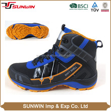 Popular design softshell and PU upper cheap waterproof men hiking shoes