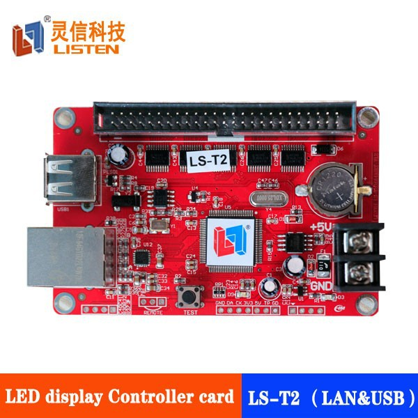 usb and lan P10 led display controller LED digital message signs