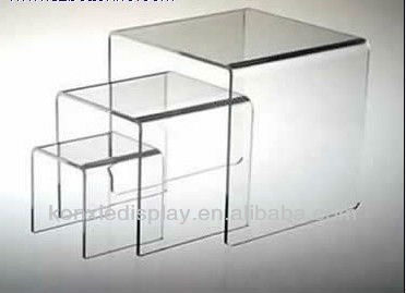 clear transparent 3 in 1 acrylic coffee tables riser