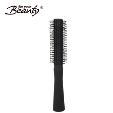 Factory fast delivery beauty mini plastic nylon round hairbrush