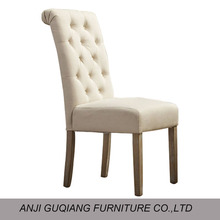 Sillas Comedor Solid Wood Tufted Dining Chair