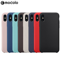 Original Mobile Back Protective Cover For Iphone 8 8Plus Anti-Dropping Liquid Silicone Case For Iphone X
