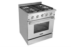4 burner Stainless Steel gas range with grate