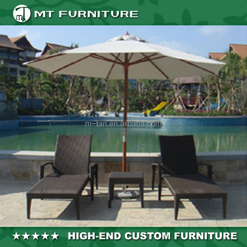 Pool/Beach Outdoor Rattan/Wicker Sun Chaise Lounge Furniture