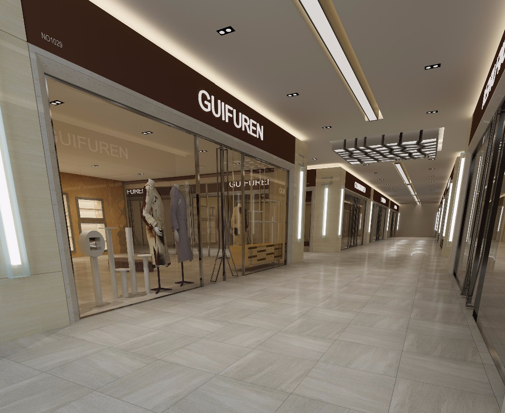 exterior Building Material Shoping Mall Floor Tile Granite Look Porcelain Tiles