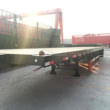 40 Ton Truck And Trailer 3 Axle 40ft Container Flatbed Semi Trailer