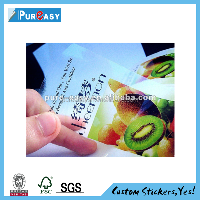 Terrific Self-adhesive waterproof custom sticker label