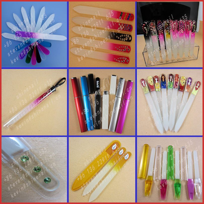 wholesale promotional velvet pouch mini crystal nail file