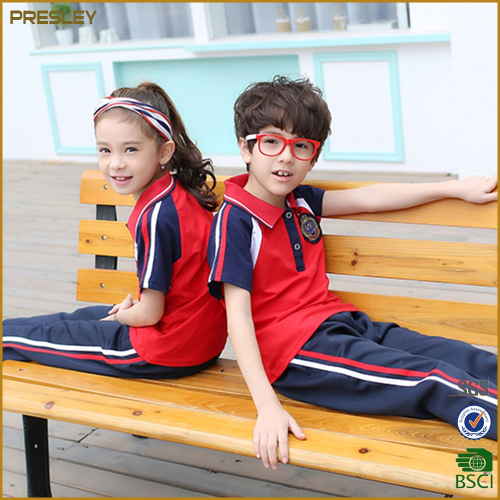 China manufacturer international high primary school uniform designs