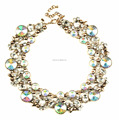 High quality fashion wholesale fashion statement jewelry high end expensive fashion jewelry clear statement necklace