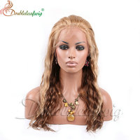 Beyonce Style Celebrity wigs Human Hair Full lace wig highlight Color Deep Wave with baby hair