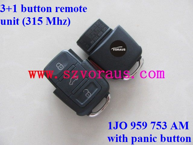 For VW 3+1 button flip remote key fob (315MHZ) 1JO 959 753 AM