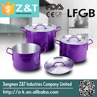 high quality New launch product hot sale satin cooking pots for sale camping pot set kitchenware set