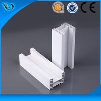 pvc compound plastic windows frame with decorative film for window sill