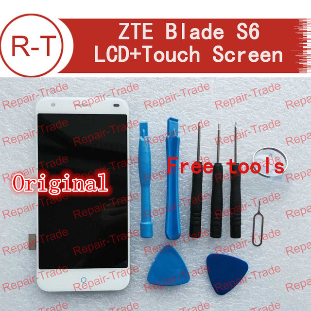 ZTE Blade S6 lcd screen High Quality Lcd display +Touch Screen 1280x720 HD 5.0inch replacement for ZTE Blade S6 Cellphone white