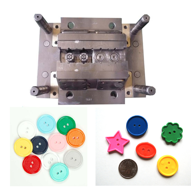 Injection tooling for plastic button molding