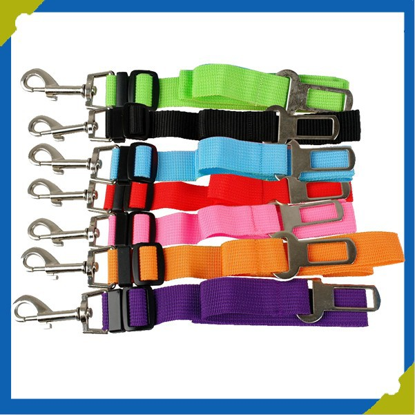 New Pure Color Adjustable Band Car Vehicle Safety Seat Belt Buckle Cat Dogs Pet