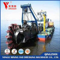 Auto-hydraulic self-unloading cutter head suction dredger for sand