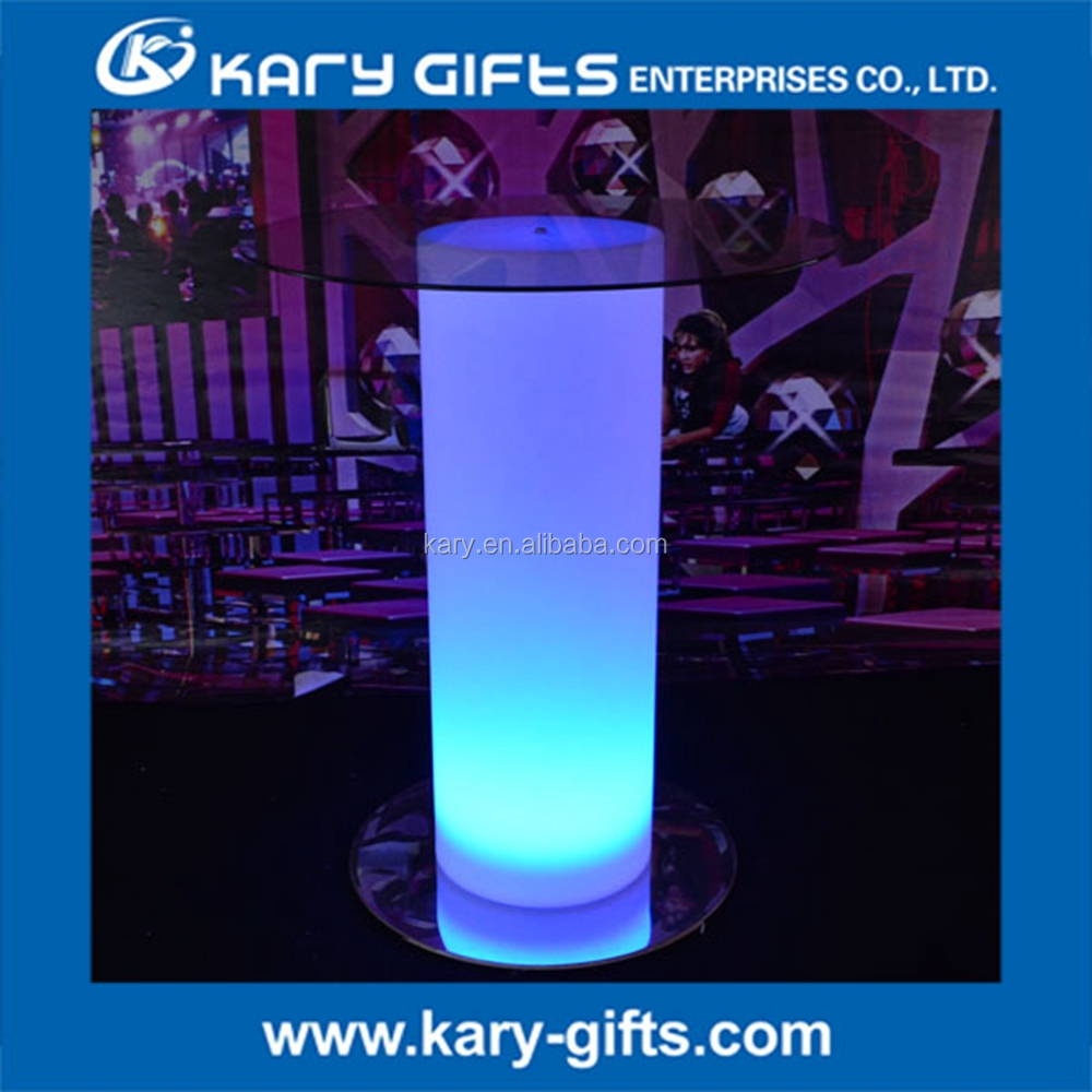 Home Bar Club Design Plastic Illuminated LED Count Height Bar Table / Event Furniture