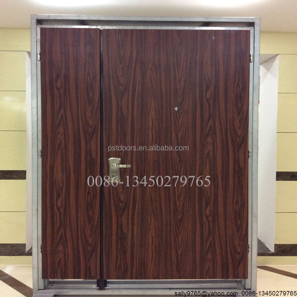 Flush DOUBLE LEAF Security Steel Door