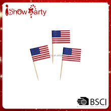 Made in China Hot Sale Bamboo Toothpick With Flag