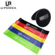 Fitness custom printed resistance bands resistance loop bands set and core sliders