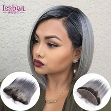 2016 Promotion Price Lace Frontal Closure New Arrival Straight 1B/grey Frontal Lace Closure With Baby Hair