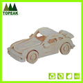 DIY Kids educational 3D Wooden Car shaped model toys wooden puzzle