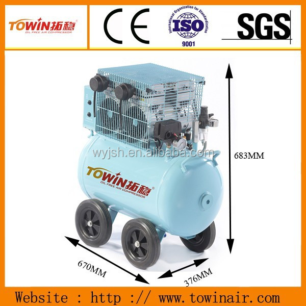 Factory Price 2HP oilless mure dental portable air compressor(TW7502)