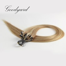 Double Wefts Single Drawn 100% Brazilian Hair cheap Micro-Ring Hair Extensions and Keratin Weft