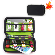 EVA Waterproof Travel Carrying Storage Case Bag For earphone case Data Cables Charger Organizer
