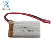 Rechargeable rc 103040 lipo battery 3.7v 1500mah for toy car rc helicopter drone