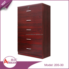 Wholesale bedroom furniture multi 5 drawers cabinets modern cheap mdf wooden chest of drawers design