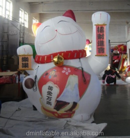 New design giant inflatable lucky cat for sale