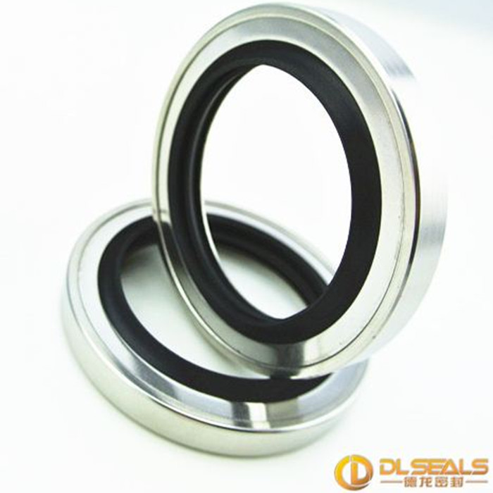 stainless steel casing with a PTFE lip oil seal