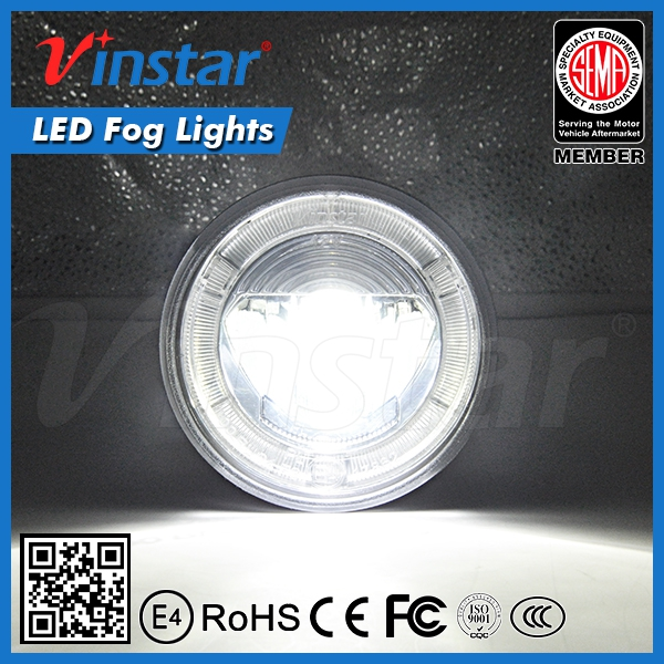 Vinstar DRL Fog lamp for Impreza STI LED Fog lights DRL Lights 4inch Fog lights for WRX STI Impreza 2008 2009 2010 with E-mark