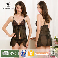 Good Quality Delicate Young Lady Transparent Sexy Ladies Night Suits