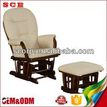 Manufacture furniture ottoman fabric rocking balance chair antique living room chairs