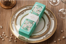 New Arrival High Quality Butterfly Scroll Laser Cut Wedding Invitation Card Box