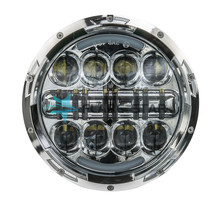 New Arrivals 7Inch LED Projector Motorcycle Headlight With High Low Beam White Yellow Head Lamp for Jeep Wrangler JK Offroad