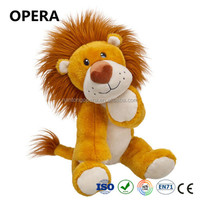 top sales golden softer material lion custom toy wholesale unstuffed plush animals