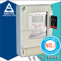 DTSY7666 Three phase electric digital kwh 3 phase ic card prepay energy meter made in china