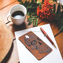 Free sample high quality black Walnut wooden mobile phone cover for one plus 3,mobile phone accessories