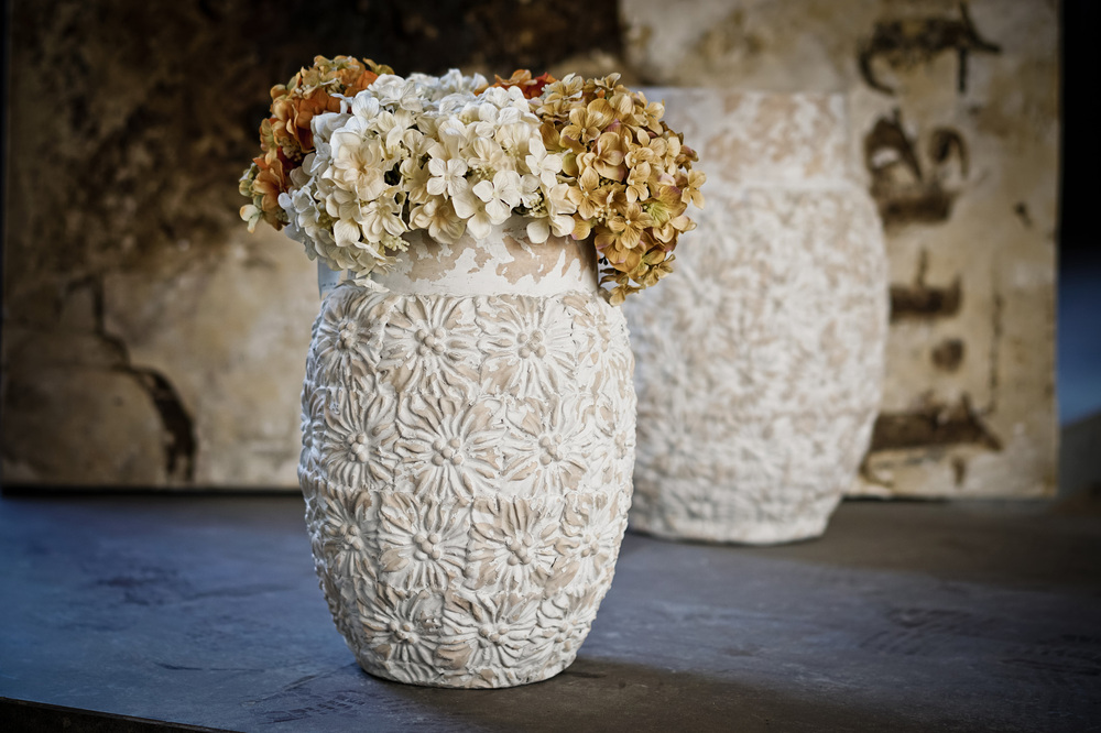 2016 hot sale of shabby chic white pots & planters