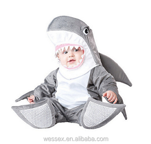 New Design Halloween Baby Shark costumes Baby Clothing velcro suits with lining(7-24 month)