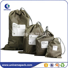 Customized Drawstring Waterproof Nylon Bag With Printing