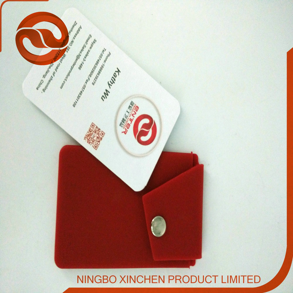 Customized logo printing soft and stretchy promotional Phone Card Holder