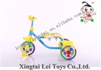 Wholesale exercise safety three wheel child tricycle metal bicycle,free style baby bike tricycle for kids CP color wheel