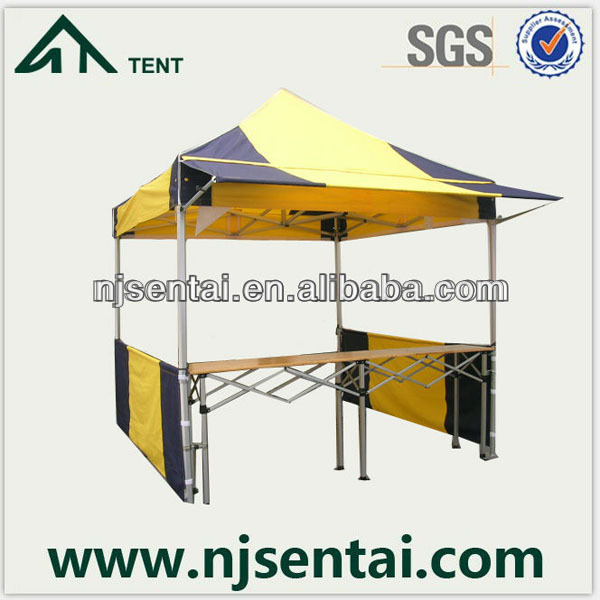 Table Wood Top Frame With Canopy UV Gazebo Stake Sun Tent